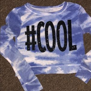 #Cool Crop Top with Long Sleeves